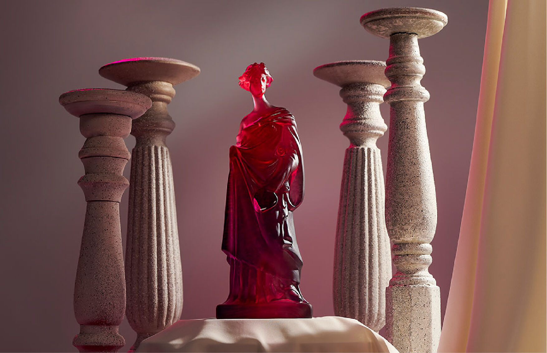 Tanagra Statue by Daum