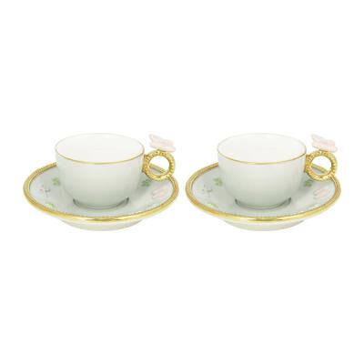 Blooming Butterfly Box Tet A Tet - Coffee 2 Pc