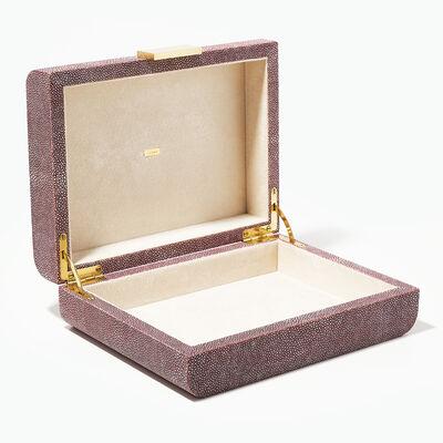 40th Ruby Shagreen Jewelry Box