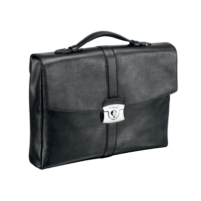 One Gusset Briefcase In Line D Soft Diamond Leather