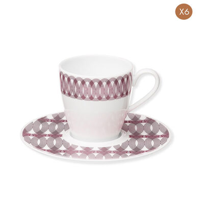 Mood-Set Of 6 Porcelain Coffee Cups And Saucers