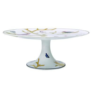 Aux Oiseaux Cake Footed Dish