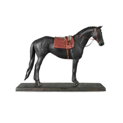 English Purebred Horse Sculpture