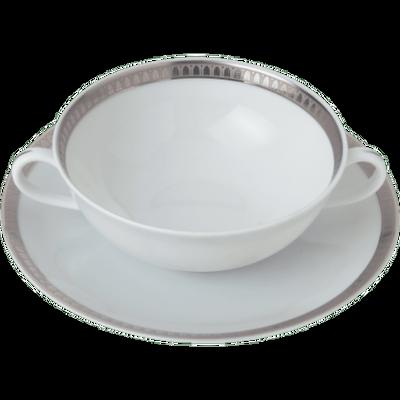 Malmaison Platine Cream Soup Cup & Saucer