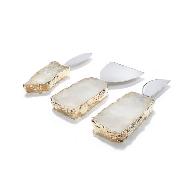 Crystal 24K Kiva Cheese Set