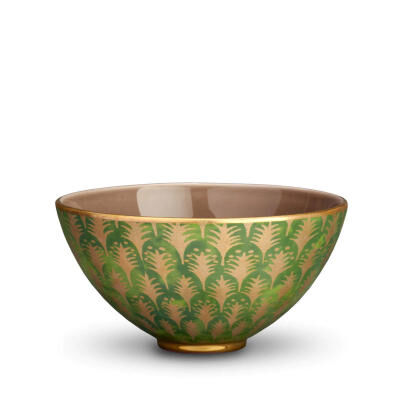 Fortuny Piumette Green Medium Bowl