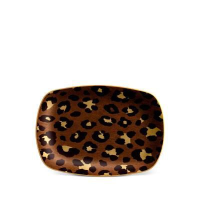 Leopard Rectangular Tray- Small