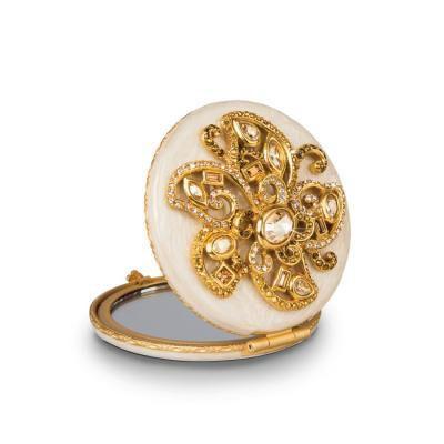 Elizabeth Flower Jeweled Compact