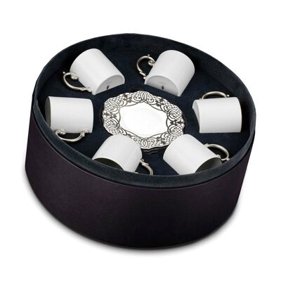 Alencon Espresso Cup and Saucer Gift Box - Set of 6