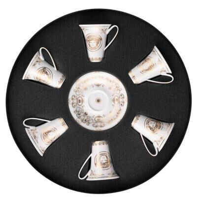Medusa Gala Set Of 6 Cups & Saucers