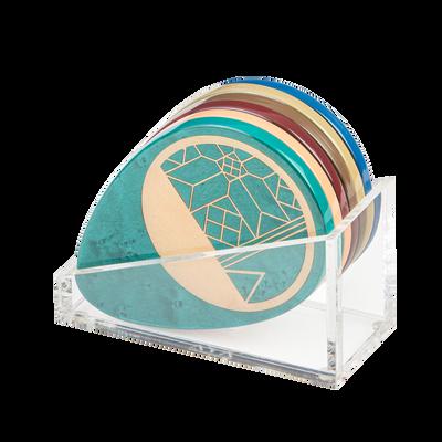Coaster Set of 6 Glossy