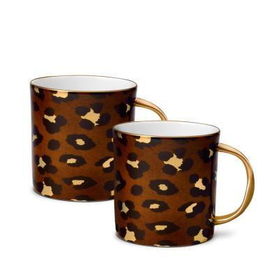 Leopard Mugs (Set Of 2)