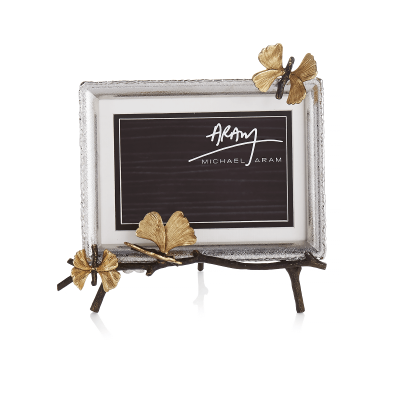 Butterfly Ginkgo Easel Photo Frame