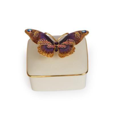 Lilliana Butterfly Porcelain Box