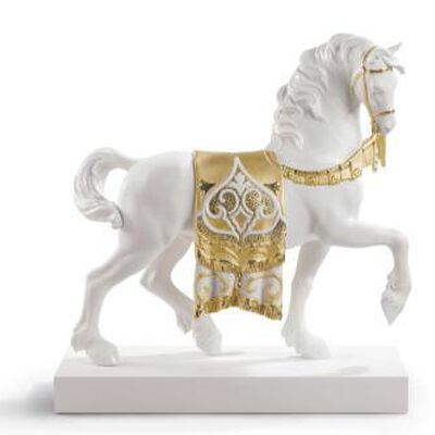 A Regal Steed Sculpture