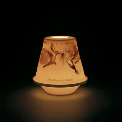 Lithophane Votive Light - Birds