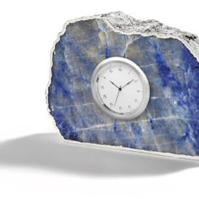 Ampliar Indigo And Silver Clock