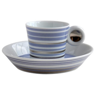 Lampeduza Set Of 6 Coffee Cups & Saucers Lavender Blu