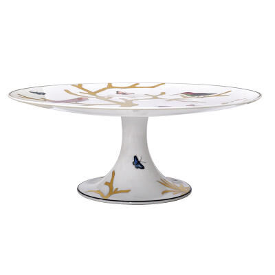 Aux Oiseaux Footed Cake Platter