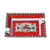 "Porcelain Ashtray ""Flor de Alba"" Red"