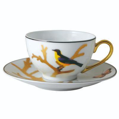 Aux Oiseaux Tea Cup & Saucer