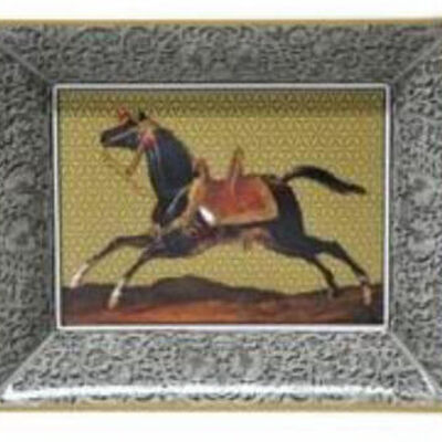 Cavallo Noir Rectangular Ashtray