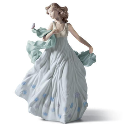 Summer Serenade Woman Figurine