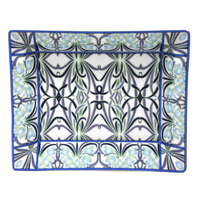 Bettina Bleu Rectangular Valet Tray