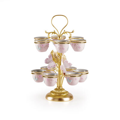 Blooming Butterfly Arabic Coffee Cup Holder w. 12 Cups
