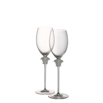 Versace Medusa Lumiere White Wine Glass Set