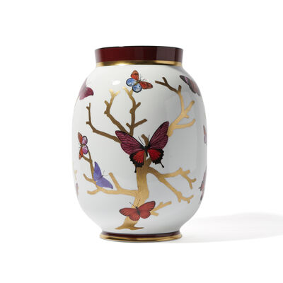 40th Ruby Aux Papillons Vase
