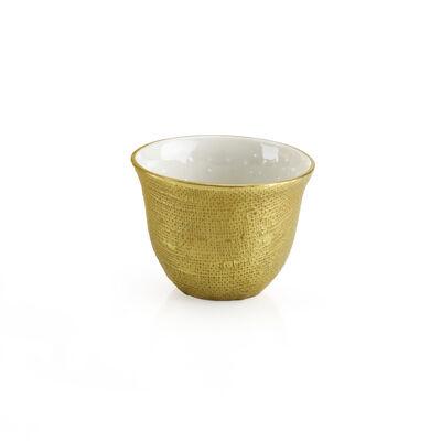 Naif Arabic Coffee Cup Full Antique Gold
