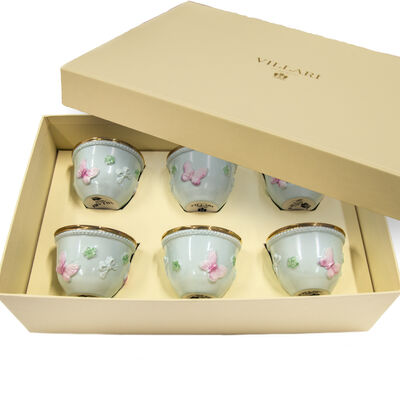 Blooming Butterfly Box - 6 Arabic Coffee Cups