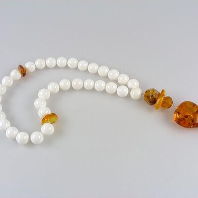 Masbaha Rosary Nacre Amber